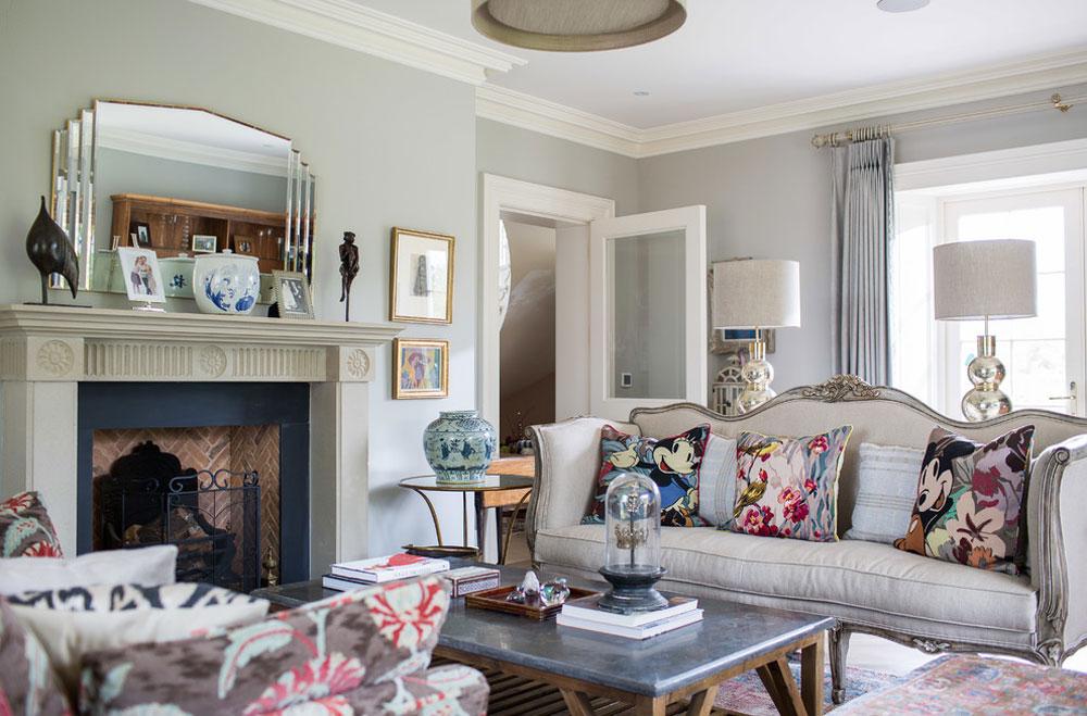 طراحی داخلی اتاق نشیمن سبک کشور فرانسه