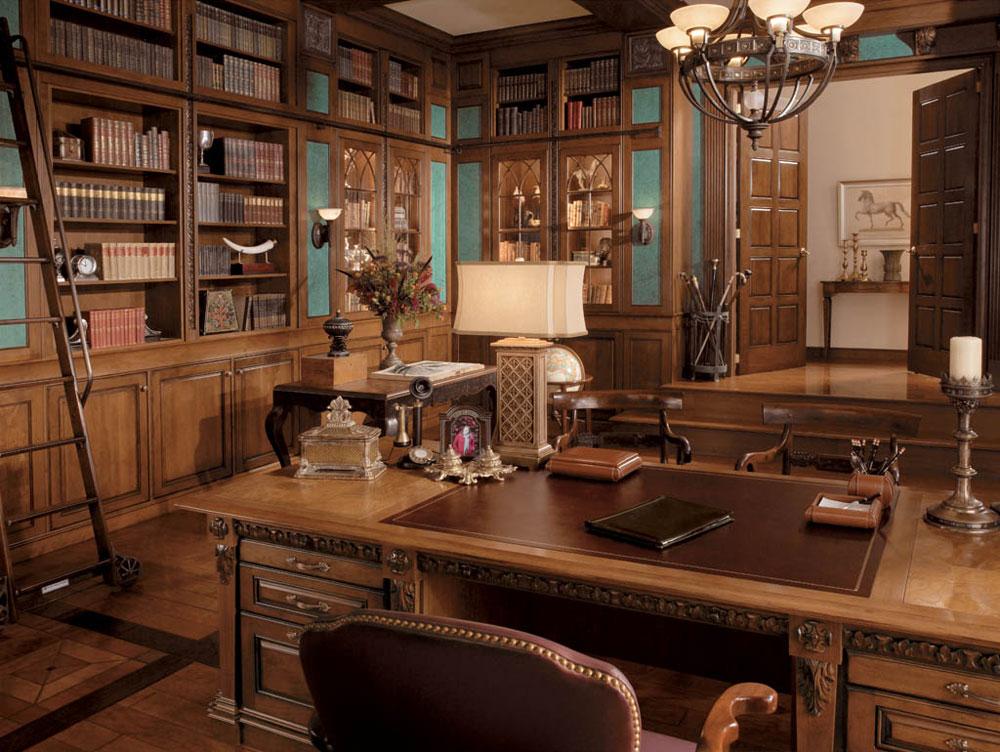 طراحی داخلی اتاق کار در خانه های بزرگ