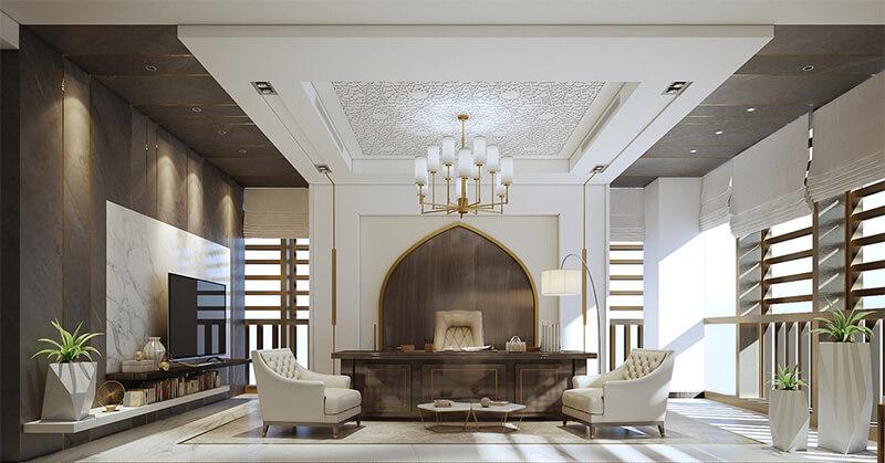 طراحی داخلی مدرن عربی