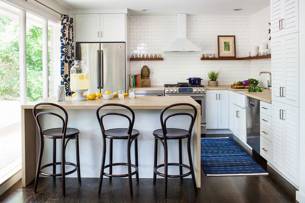 دکوراسیون داخلی و تزئین آشپزخانه در یک آپارتمان کوچک