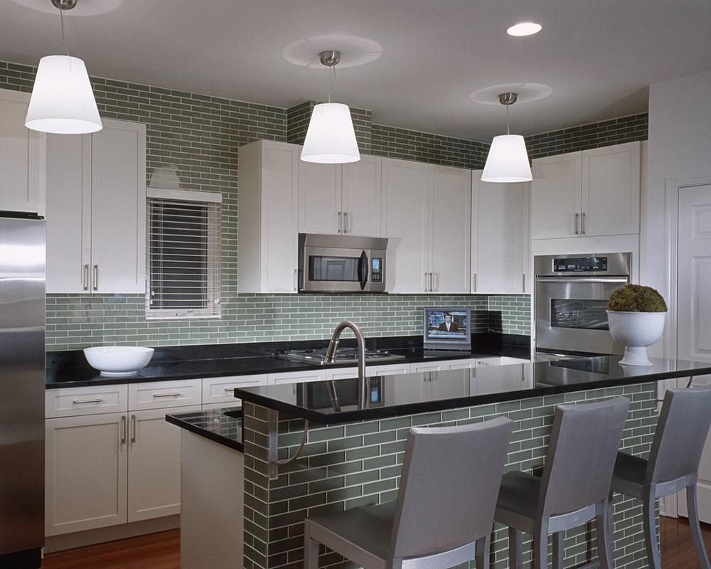 طراحی داخلی آشپزخانه مدرن با استفاده از نقش کابینت