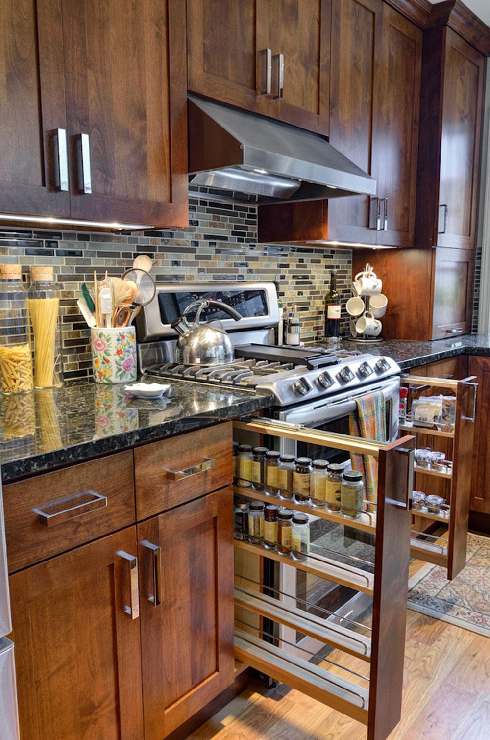 طراحی داخلی آشپزخانه و فضا سازی مدرن ادویه جات