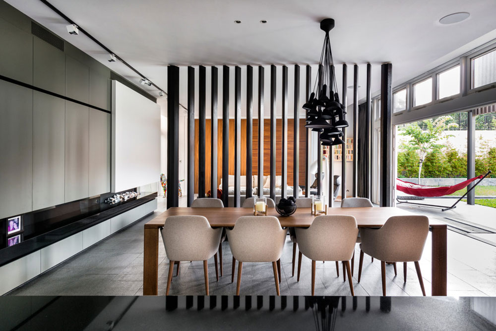طراحی داخلی برای تقسیم یک اتاق نشیمن بزرگ