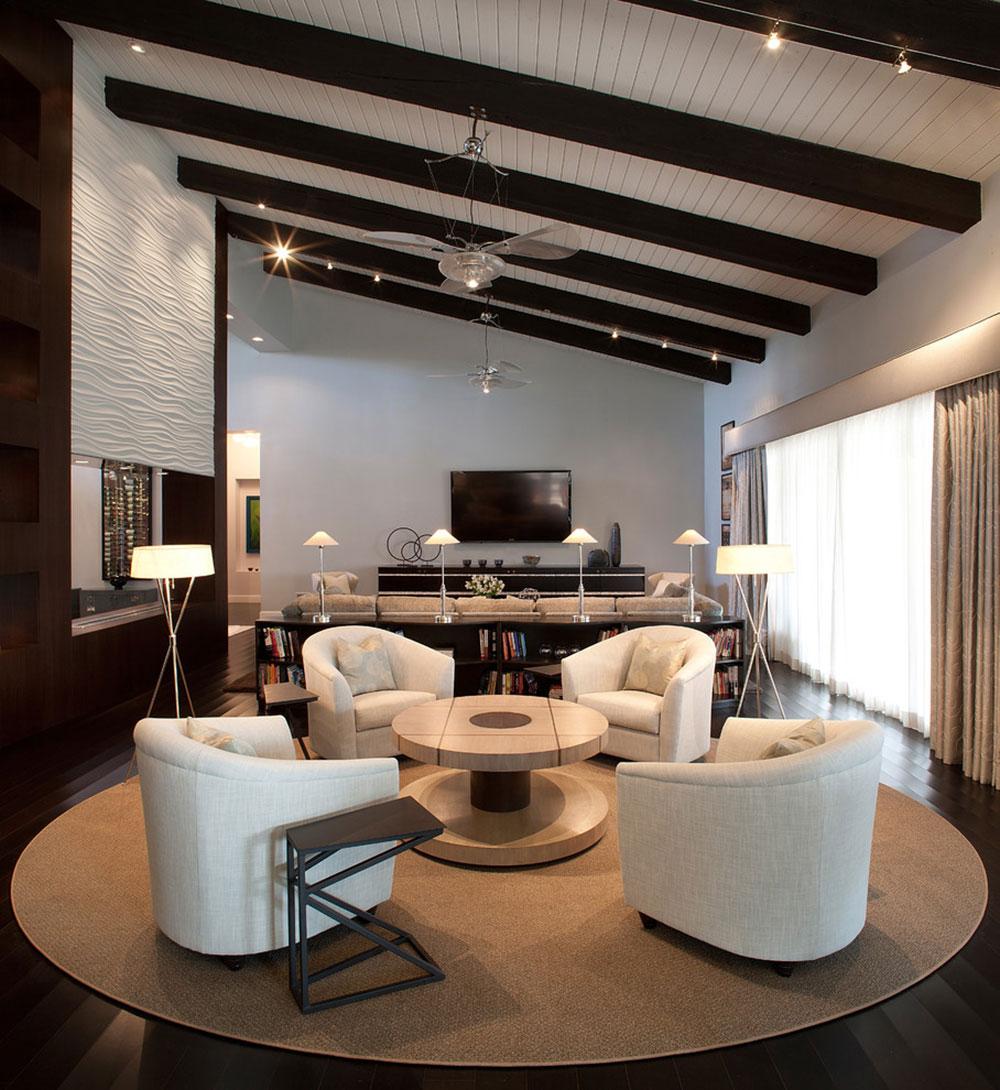 طراحی داخلی اتاق نشیمن فوق العاده مدرن و زیبا